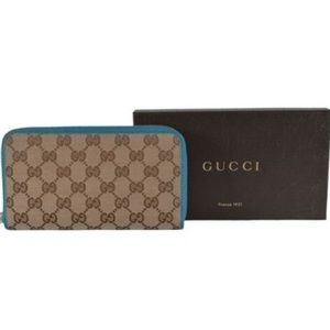NWT Gucci Guccissima Canvas Zip Wallet 363423